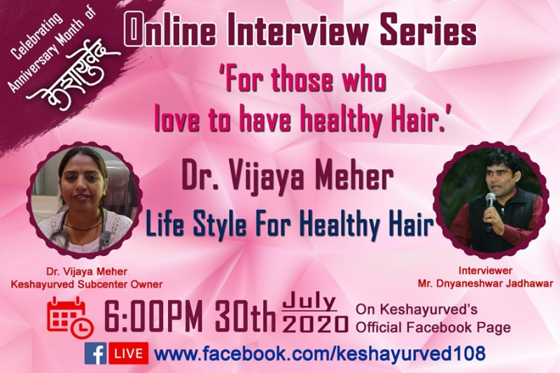 Lifestyle for Healthy Hair by Dr. Vijaya Meher