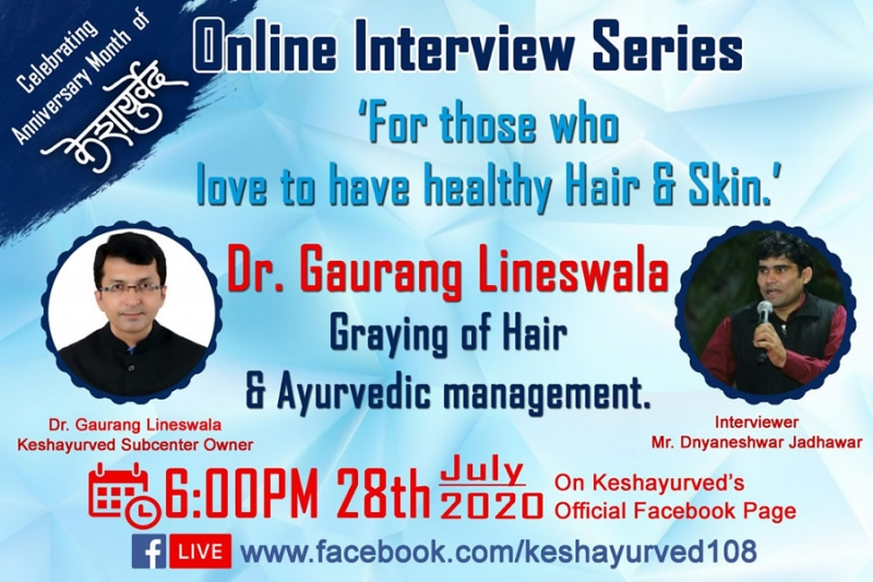 Greying of hair and Ayurvedic Management by Dr. Gaurang Lineswala